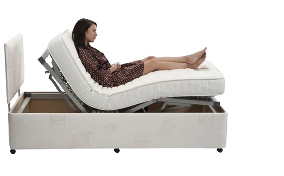 Adjustable Bed Rail with Pouch
