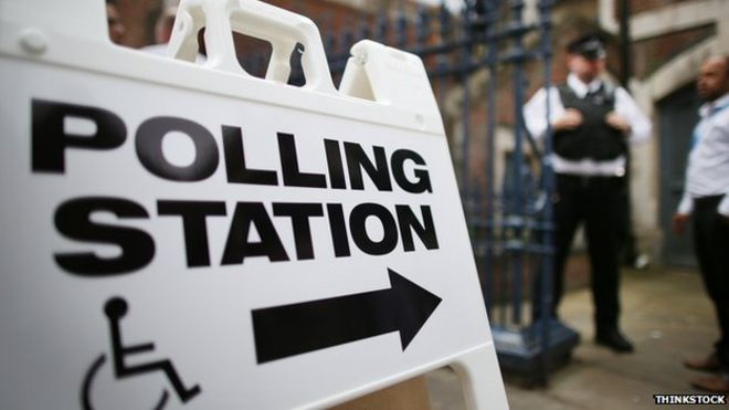 Disabled polling station