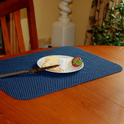 StayPut Non-Slip Fabric Tablemat and Coaster Set