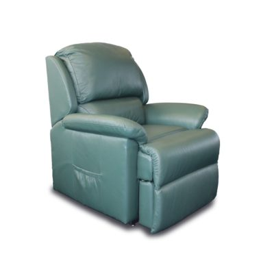 Green leather rise and recliner
